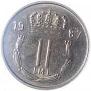 Люксембург 1986-1987 1 франк
