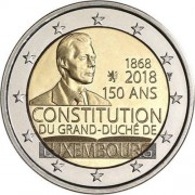 Люксембург 2018 2 евро 150 лет Конституции