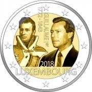 Люксембург 2018 2 евро Герцог Гийом I