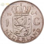 Нидерланды 1964 1 гульден (серебро)