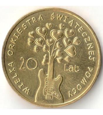Польша 2012 2 злотых Большой оркестр рождественской благотворительности