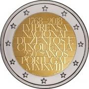 Португалия 2018 2 евро Типография