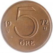 Швеция 1972-1973 5 эре