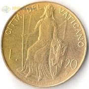 Ватикан 1979-1980 20 лир