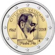Ватикан 2018 2 евро 50 лет со дня смерти падре Пио