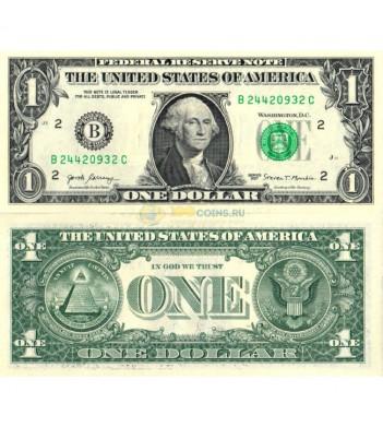 США банкнота 1 доллар 2017 UNC