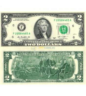 США бона 2 доллара 2013 UNC