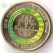 Австралия 2018 2 доллара Логотип игр содружества