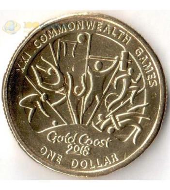 Монета Австралия 2018 1 доллар Виды спорта тип 2