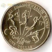 Австралия 2018 1 доллар Виды спорта тип 4