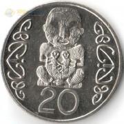 Новая Зеландия 1993 20 центов Божество Маори