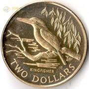 Новая Зеландия 1993 2 доллара Священная альциона