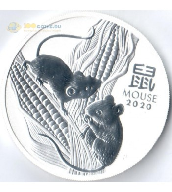 Австралия 2020 1 доллар (1 унция) Год мыши (серебро)