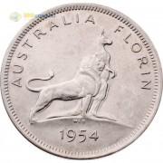 Австралия 1954 1 флорин (серебро)