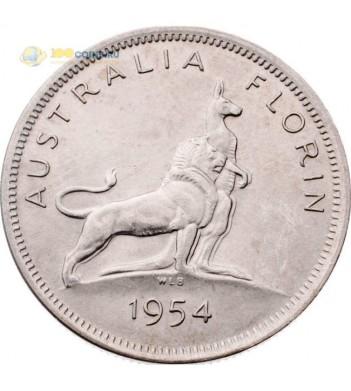 Австралия 1954 1 флорин 2 шиллинга (серебро)