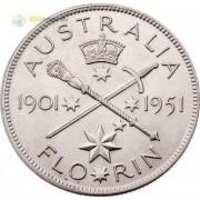 Австралия 1951 1 флорин (серебро)