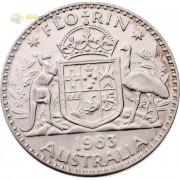 Австралия 1963 1 флорин Елизавета II (серебро)
