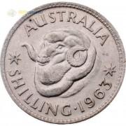Австралия 1955-1963 1 шиллинг Елизавета II (серебро)