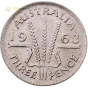 Австралия 1963 3 пенса Елизавета II (серебро)
