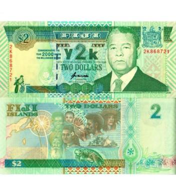 Фиджи бона 2 доллара 2000