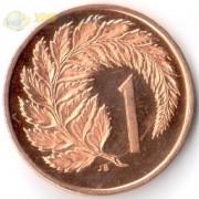 Новая Зеландия 1967 1 цент Циатея серебристая