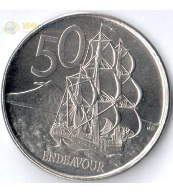 Новая Зеландия 2006-2019 50 центов Индевор