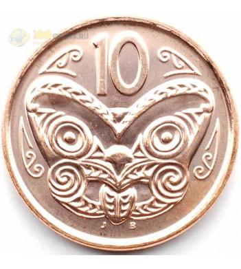 Новая Зеландия 2012 10 центов Маска Маори