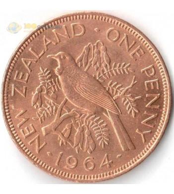 Монета Новая Зеландия 1964 1 пенни Новозеландский туи