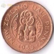 Новая Зеландия 1965 1/2 пенни Амулет хей-тики