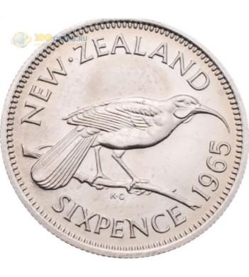 Новая Зеландия 1965 6 пенсов Птица гуйя