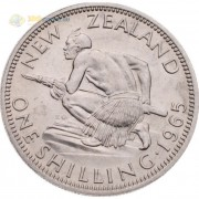 Новая Зеландия 1965 1 шиллинг Воин маори