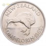 Новая Зеландия 1965 1 флорин Птица киви