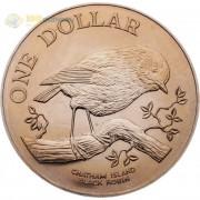 Новая Зеландия 1984 1 доллар Черный робин