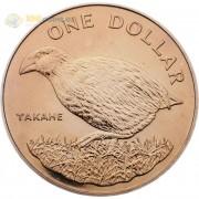 Новая Зеландия 1982 1 доллар Такахе