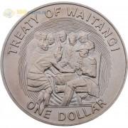 Новая Зеландия 1990 1 доллар Договор Вайтанги