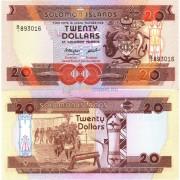 Соломоновы острова бона (016) 20 долларов 1986