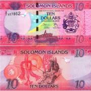 Соломоновы острова бона (033) 10 долларов 2017