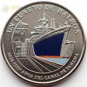 Панама 2016 1/4 бальбоа Синий корабль