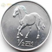 Северная Корея 2002 1/2 чона Лошадь