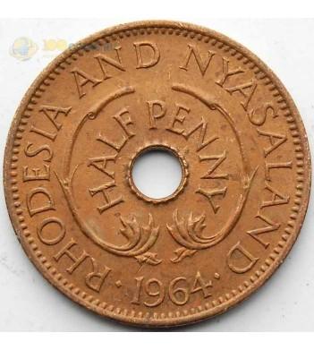 Родезия и Ньясаленд 1964 1/2 пенни