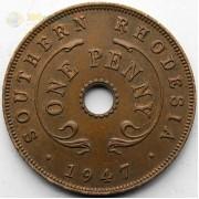 Южная Родезия 1947 1 пенни Георг VI