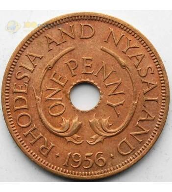 Родезия и Ньясаленд 1956 1 пенни
