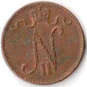 Финляндия 1912 1 пенни Николай II