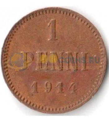 Финляндия 1914 1 пенни Николай II