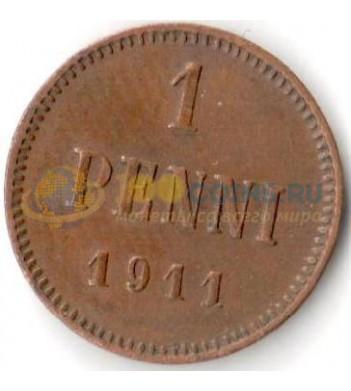 Финляндия 1911 1 пенни Николай II