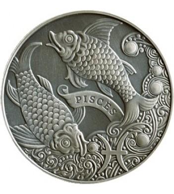 Беларусь 2014 1 рубль Рыбы Зодиакальный гороскоп