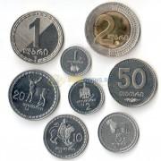 Грузия 1993-2006 набор 8 монет