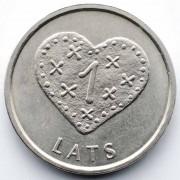 Латвия 2011 1 лат Сердце