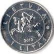 Литва 2010 1 лит 600 лет Грюнвальдской битве