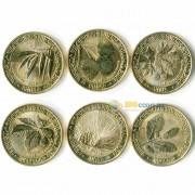 Армения 2014 200 драм набор 6 монет Листья деревьев